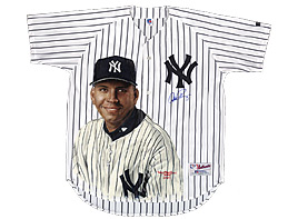 Hand-Painted Alex Rodriguez Baseball Jersey