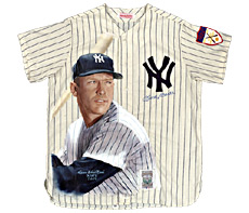Hand-Painted Mickey Mantle Baseball Jersey