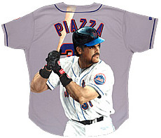 Hand-Painted Mike Piazza Baseball Jersey