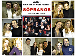Karen O'Neil Ganci and the cast of the Sopranos